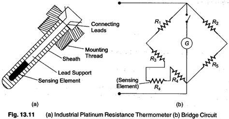 resistance thermometer transducer bridge circuit advantages