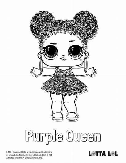 Lol Coloring Doll Queen Pages Purple Surprise