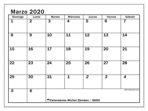 foto de Calendario marzo 2020 66DS Michel Zbinden ES