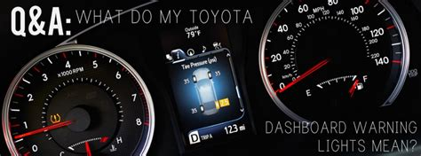 What Do My Toyota Dashboard Warning Lights Mean?