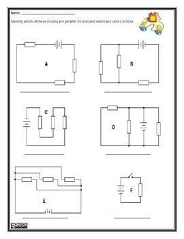 parallel and series circuits worksheet kids stuff science electricity science curriculum