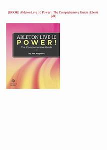 Ableton Live 10 Guide Book