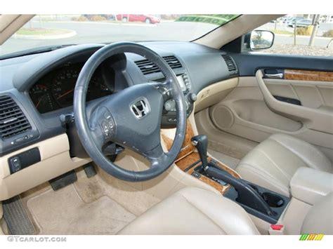 Ivory Interior 2004 Honda Accord Ex-l Coupe Photo