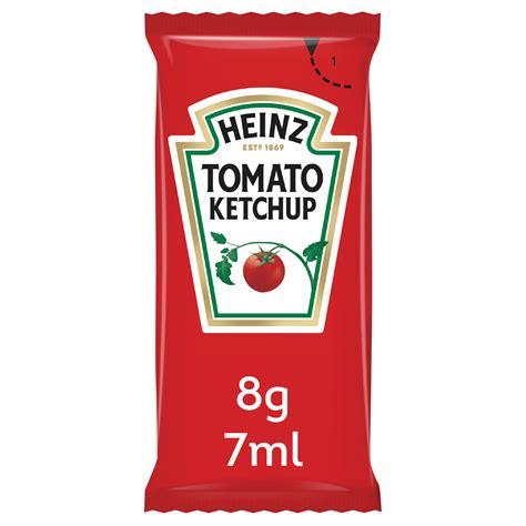 Heinz Tomato Ketchup Sauce Portions - Box of 200 Sachets