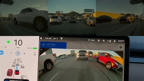 Tesla Autopilot 2019 by Tesla Nav On Autopilot 2019 8 5 Vs L A Traffic