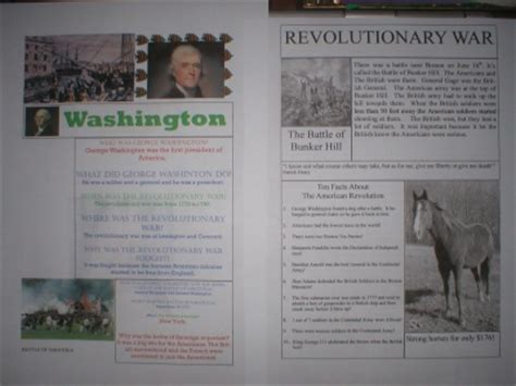 revolutionary war newspaper template american revolution just us