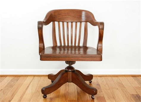 antique wood office chair with beautiful and