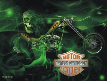 Harley Davidson Motorcycle Screensavers Skull Wallpapers Fire