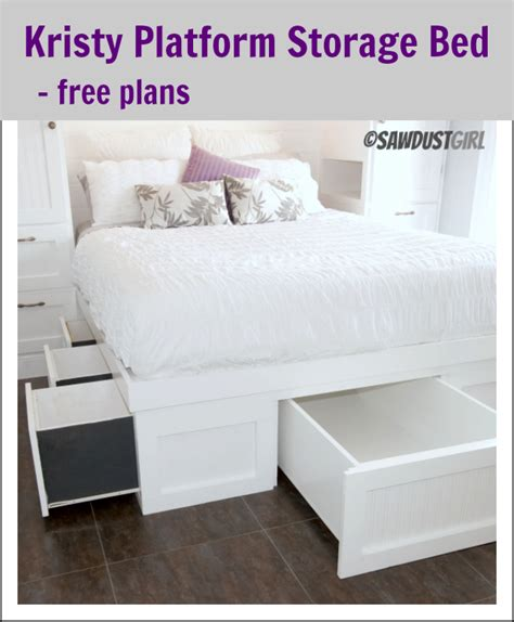 build queen bed frame  drawers plans plans