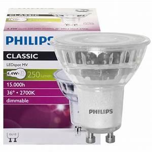 Philips Led Gu10 Dimmbar : philips gu10 led strahler 4 4w 250lm dimmbar warmweiss led100 einbaustrahler und mehr ~ Orissabook.com Haus und Dekorationen