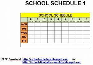 Elementary Scheduling Template | Calendar Template 2016