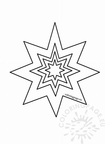 Coloring Pointed Pattern Eight Shapes Printable Worksheets
