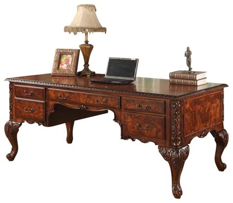 hand carved executive desk cdexecutive traditional office desk with hand carved