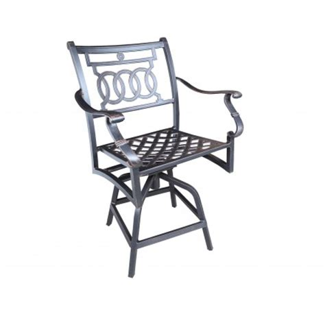 verona cast aluminum counter stool patio furniture at