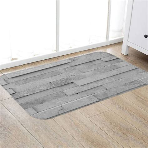 Kitchen Floor Mats For Bad Backs by Modern Flannel Fabric Non Slip Rubber Back Bath Rug Home