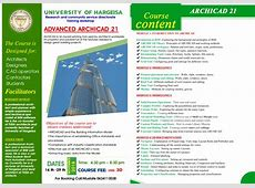 ADVANCED ARCHICAD 21 University of Hargeisa