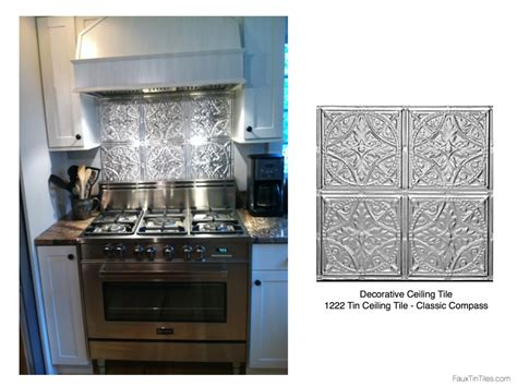 Stainless Steel Oven Backsplash : Stainless Steel Stove + Fabulous Tin Backsplash