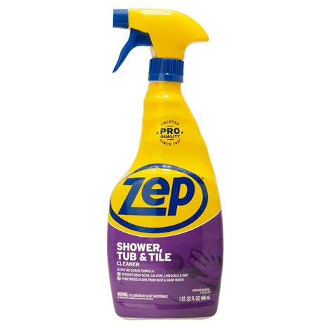 Best Cleaning Liquid For Bathroom Tiles by Zep 32 Oz Shower Tub And Tile Cleaner Zustt32pf The