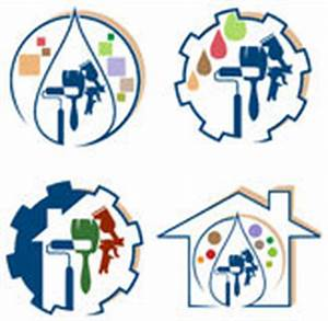 logo de peinture de maison illustration de vecteur With toit de maison dessin 15 logo de peinture de maison illustration de vecteur image