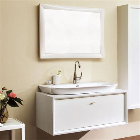 """Bathroom vanity mirrors can be frustrating. 36"""" White Edith Wall Mount Vanity Cabinet with Semi ..."""