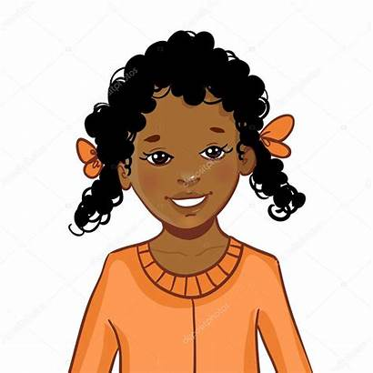 Curly Hair Clipart Afro Brown Cartoon Drawing