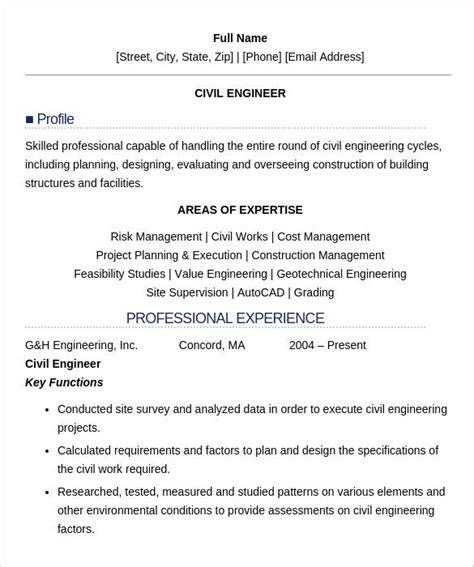 civil engineer resume templates  samples psd