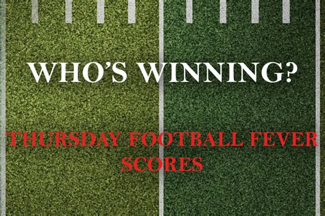 THURSDAY FOOTBALL FEVER: Scores from the first-round ...