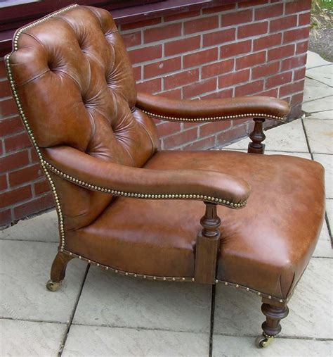 A Victorian Leather Armchair  Antiques Atlas. Red Console Table. Industrial Style Stools. Bathroom Tile Pictures. Absolute Stone. Types Of Kitchens. How To Decorate A Sunroom. Mid Century Modern Rocking Chair. Purple Shrubs