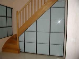 meuble rangement sous comble stunning meuble rangement With porte placard sous escalier