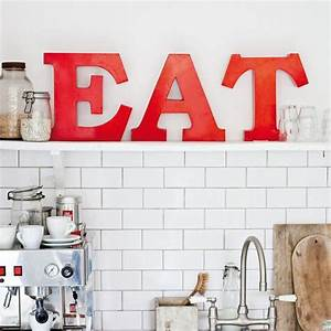 Eat red metal letters design pinterest for Red eat letters for kitchen