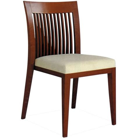 harp vertical slat back wood restaurant chair