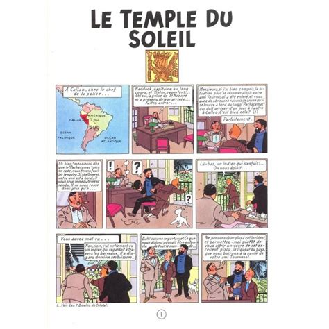tintin album le temple du soleil edition fac simil 233