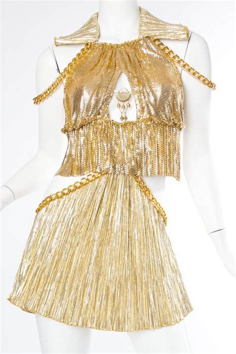 gold metal mesh  chain showgirl dream dress  stdibs