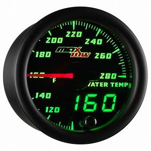 52mm Black Maxtow Water Temperature 280 U00b0 F Gauge Meter Kit