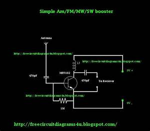 Free Circuit Diagrams 4u  Simple Am  Fm  Sw  Mw Booster Circuit