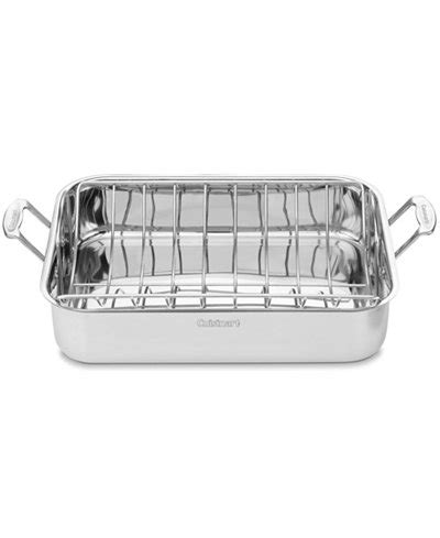 cuisinart dish rack cuisinart chef s classic stainless steel 16 quot roaster with