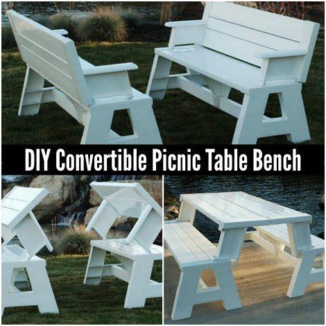 convertible picnic table bench diy convertible picnic table bench