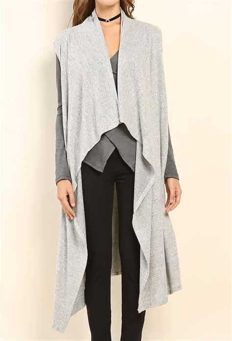 knit draped cardigan draped front knit cardigan shop sweaters cardigans