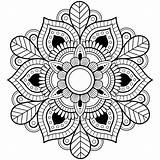 Mandala Coloring Pages Detailed Colouring Printable Print Adult Da Leaf Boyama Drawings Very Sayfaları Animexlife Salvato Contact sketch template