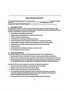 apprenticeship agreement free download With apprenticeship contract template