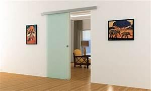 Schiebetür Glas Bauhaus : voll satinierte glas schiebet r f r innenbereich komplett ~ Watch28wear.com Haus und Dekorationen