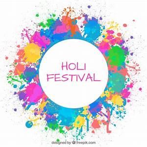 Splashes paint Holi festival background Vector | Free Download
