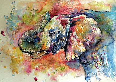 colorful elephant painting by kovacs brigitta