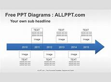 6 Years Arrow Timeline PPT Diagrams + Download Free
