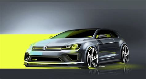 Vw R 400 by Volkswagen Golf R 400 Concept Previewed Before Beijing