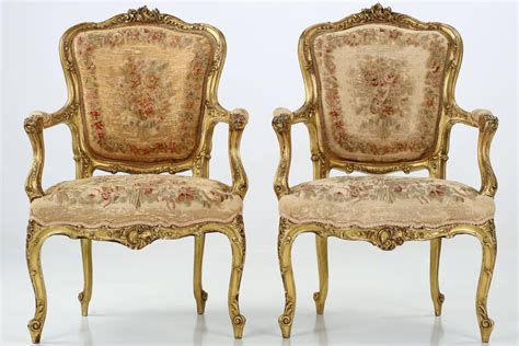 pair of louis xv style antique fauteuil arm chairs 19th century c 1870 for sale at 1stdibs