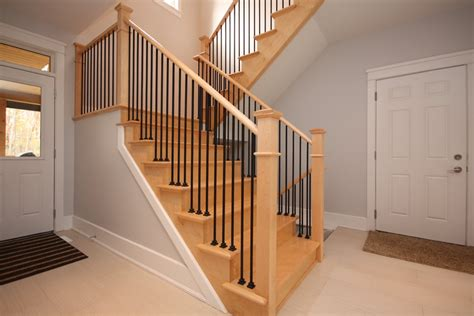 decorative iron stair railings wood stair railing ideas home decorations insight