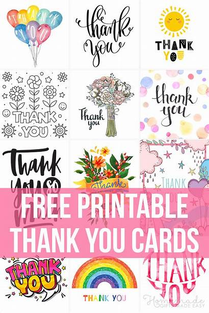 Thank Printable Cards Easy Greeting Gifts Homemade