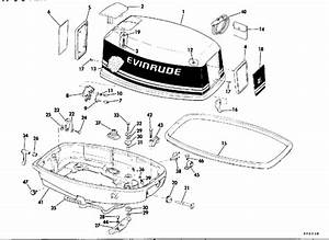 Evinrude Motor Cover Parts For 1980 25hp E25rcsa Outboard