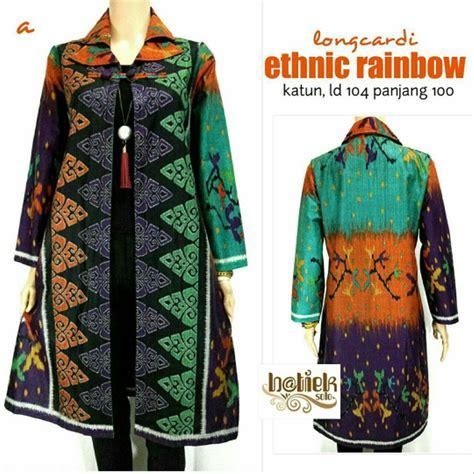 jual dress panjang batik long cardigan batik  lapak